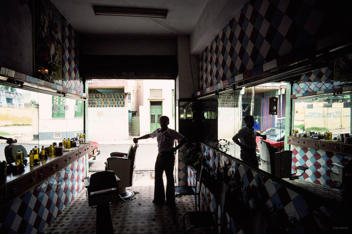 Interior of Barber Shop Looking Out, Bahia