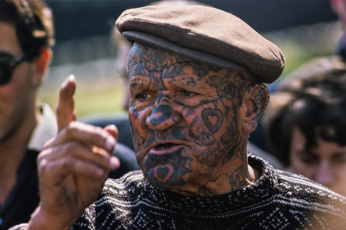 Man with Tattoos on Face, London