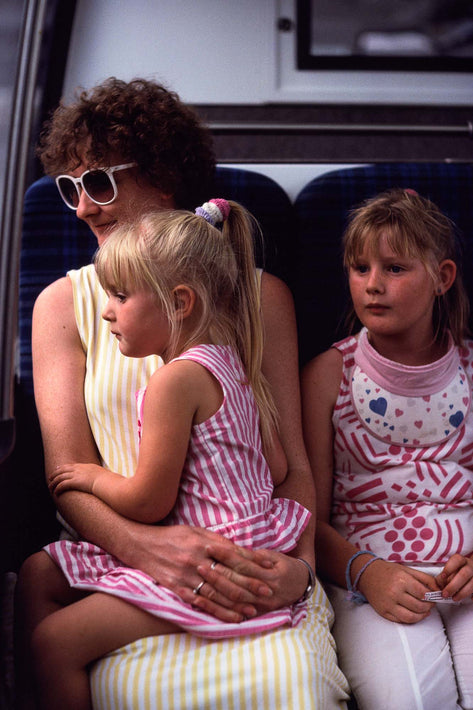 Mom and Two Kids in Train, Australia