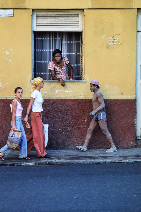 Three Walking, Woman in Window, Bahia