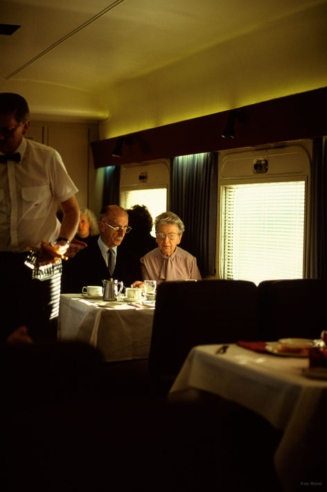 Couple in Dining Car of Train, Australia