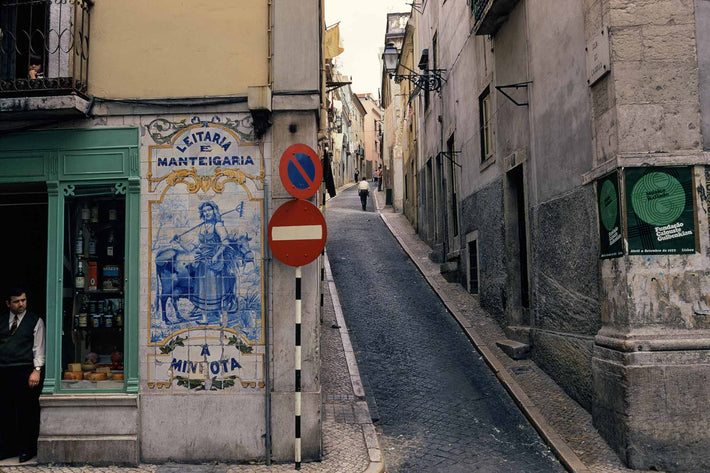 Street Shopkeeper, Two Wall Signs, Portugal