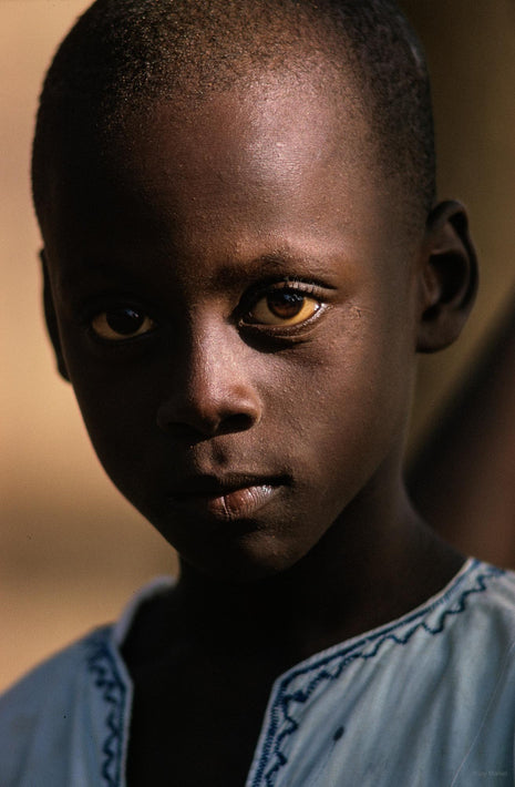 Close-up with White Shirt, Senegal
