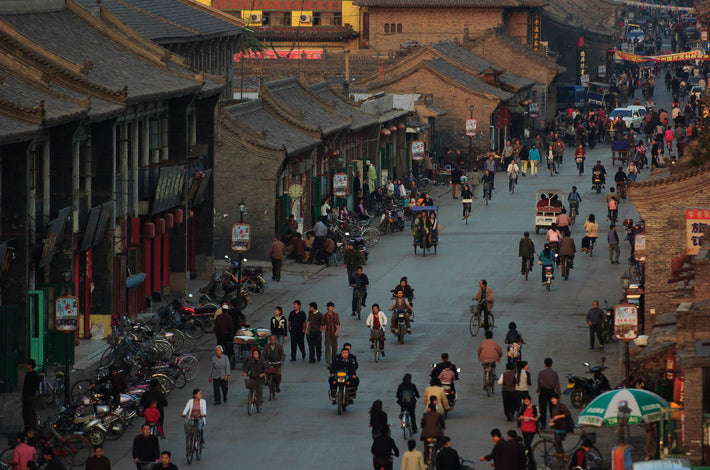 Street Scene from Above, Pingyao