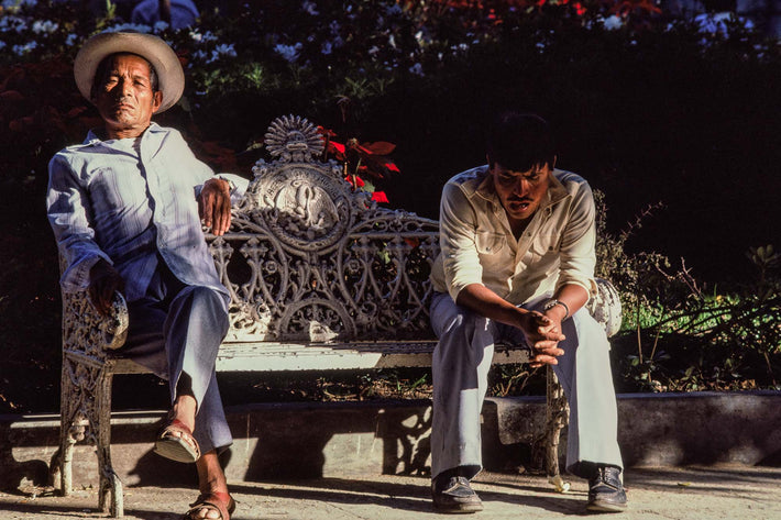 Two Men on Bench, Oaxaca