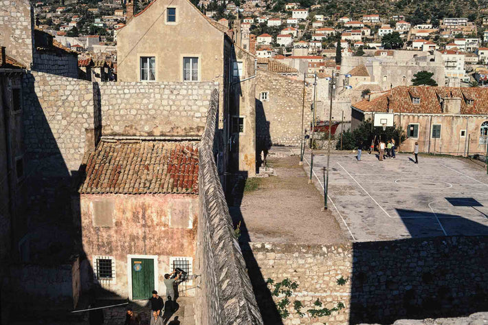 View of Yards with Basketball Court, Dubrovnik