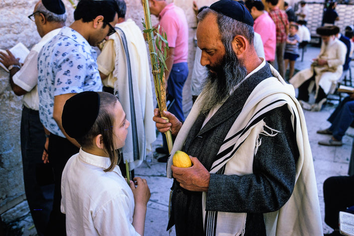 Man with Lemon and Child, Jerusalem