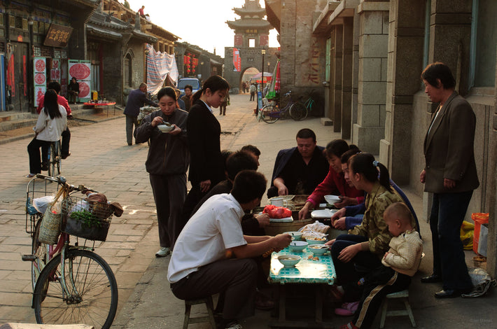 People Eating on Street, Pingyao