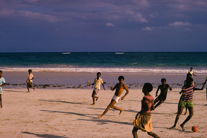 Soccer Players on Beach, Senegal