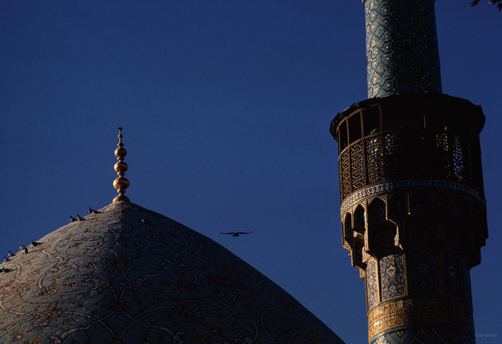 Dome and Minaret with Birds, Iran