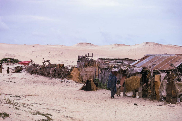 Shacks in Desert, Somalia