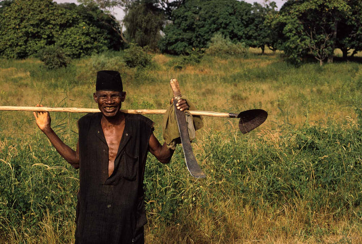 Man with Machete and Long Spade, Senegal