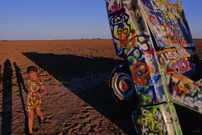 At Cadillac Ranch