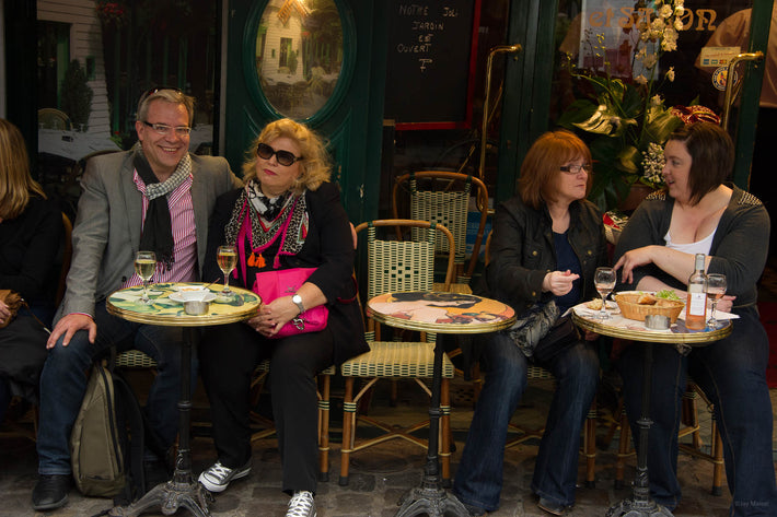 Two Couples at Café, Paris