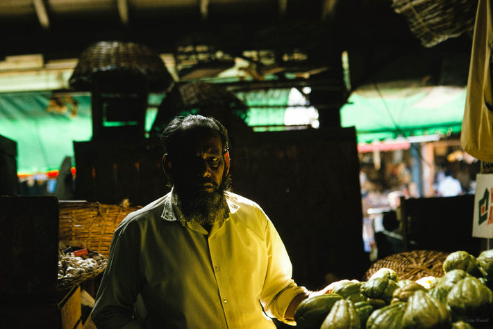 Bearded Man in Market, Mauritius