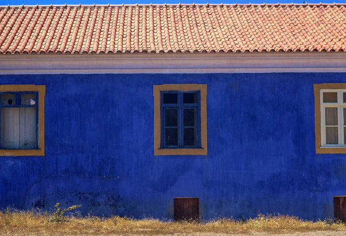 Blue Wall and Doves, Wide Angle, Portugal