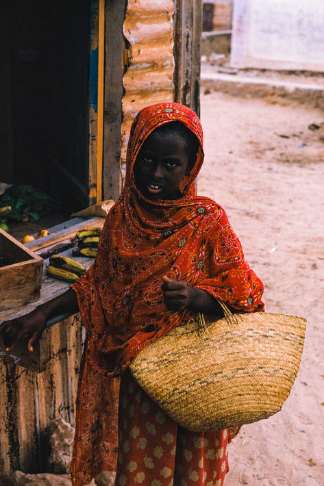 Girl with Basket, Somalia