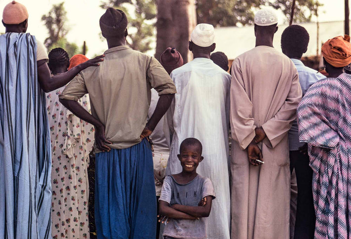 Tall Men, Smiling Little Kid, Senegal