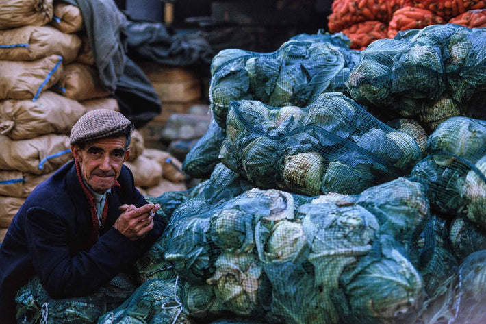 Man with Pile of Cabbages, London