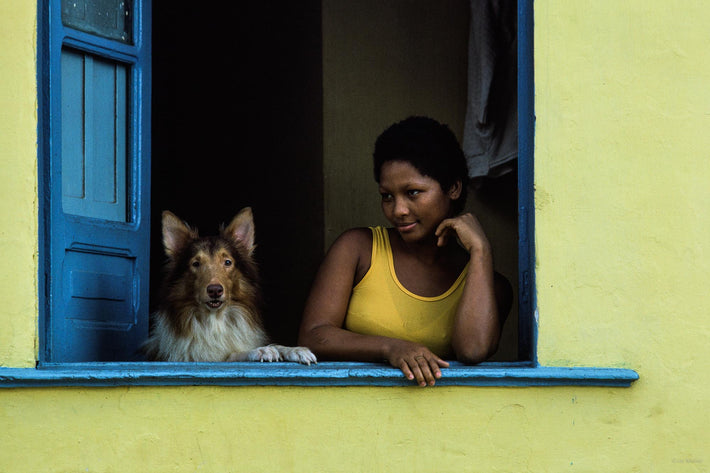 Women in Yellow with Dog in Window, Bahia