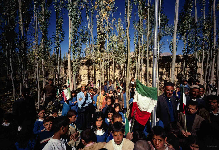 Crowd of People Amongst Trees, Iran
