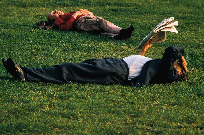 Two People on Grass, London
