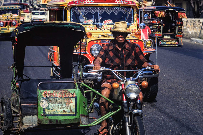 Man, Motorcycle Taxi, Philippines