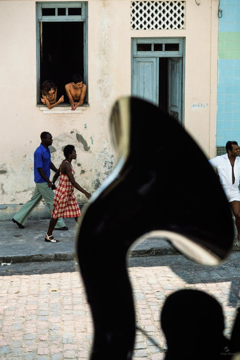 Couple in Street Through Guy with Tuba, Bahia