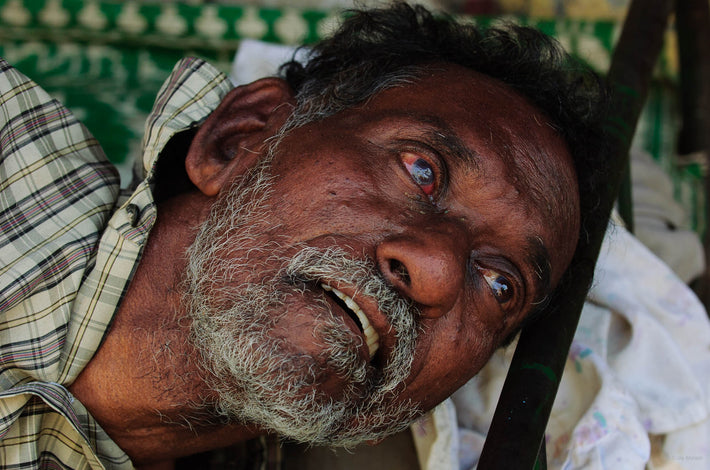 Close-up Head, Old Man with Whiskers, Mumbai