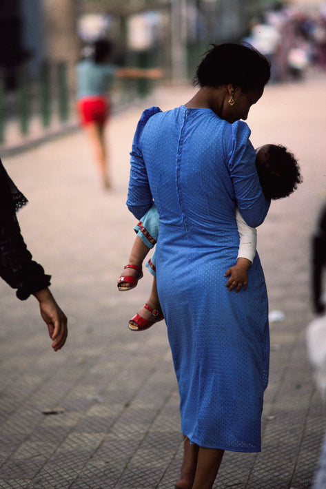Woman in Blue with Baby, Egypt
