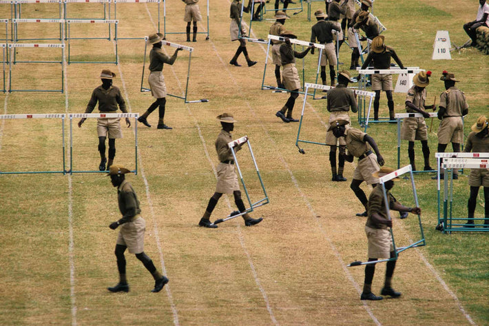 Soldiers Moving Hurdles, Kenya