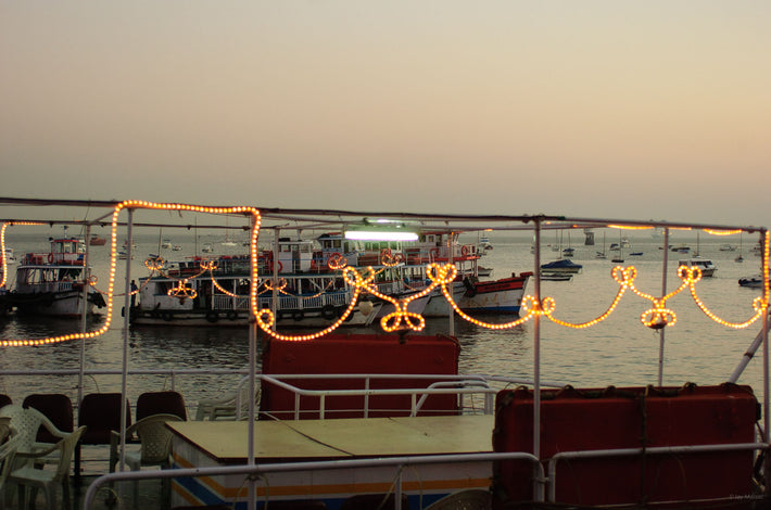 Boats, Pattern of Lights, Mumbai