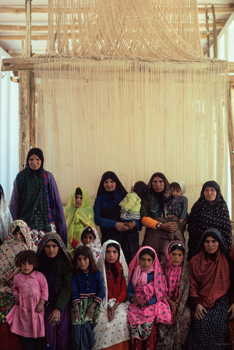 Women in front of Loom, Iran