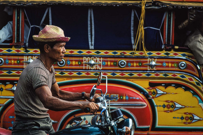 Man, Motorcycle, Profile, Philippines