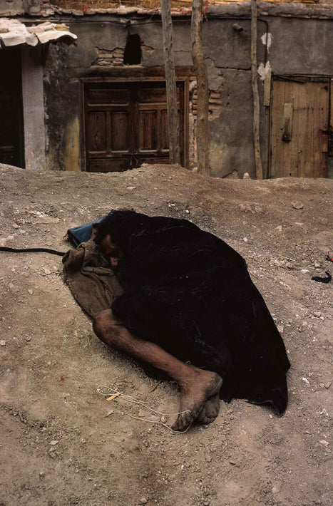 Sleeping Figure on Ground, Marrakech