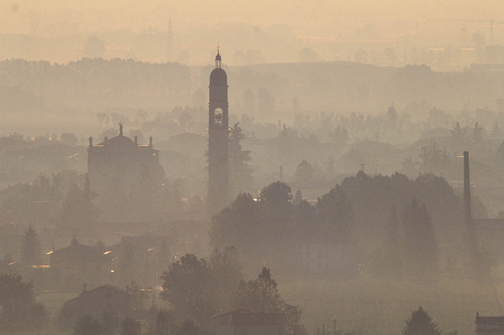 Steeples, Haze, Telephoto, Vicenza