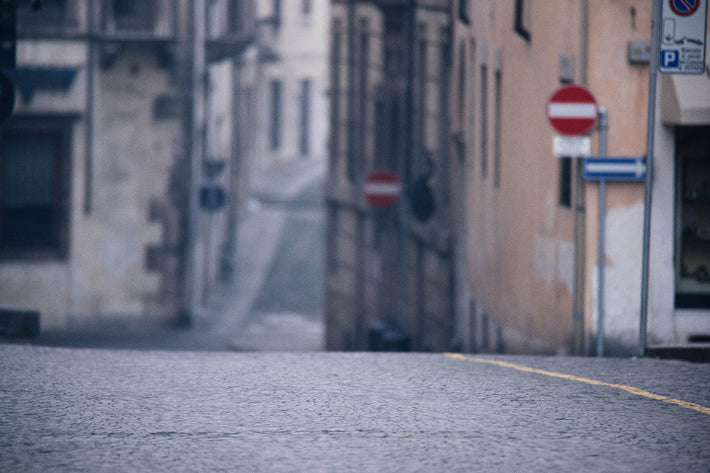 View of Empty Street, Low Angle , Vicenza