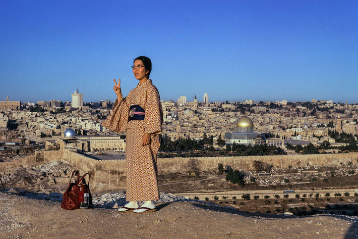 Japanese Tourist and City, Jerusalem