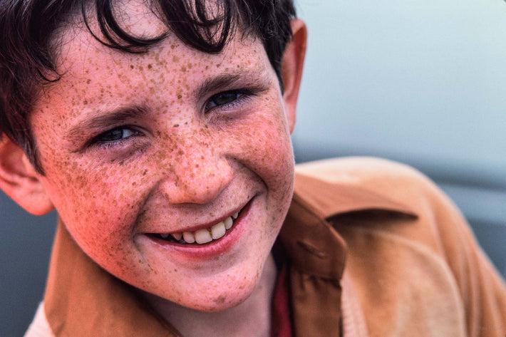 Boy with Freckles, Smiling, Ireland