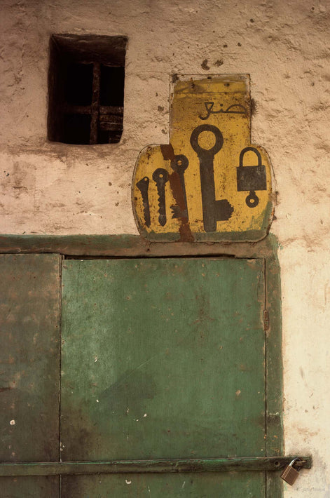 Painted Wall with Keys, Marrakech