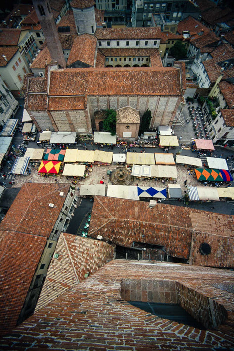 Overhead View Market Day, Vicenza
