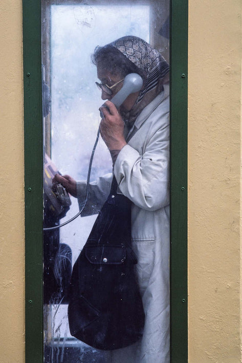 Woman in Phone Booth, Ireland