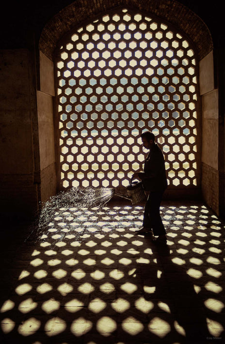 Pattern of Light, Man Spraying Water, Iran