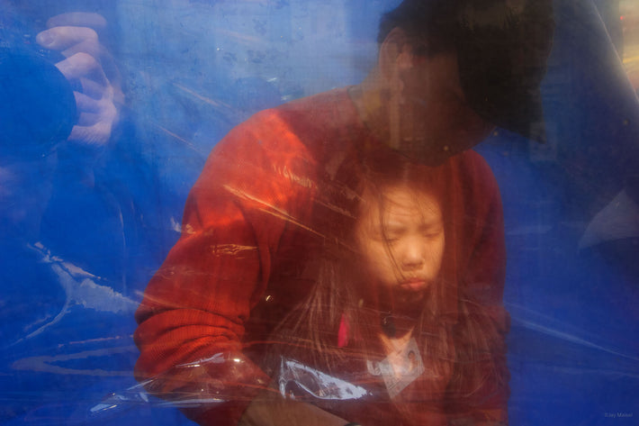 Reflection of Young Asian Girl, NYC