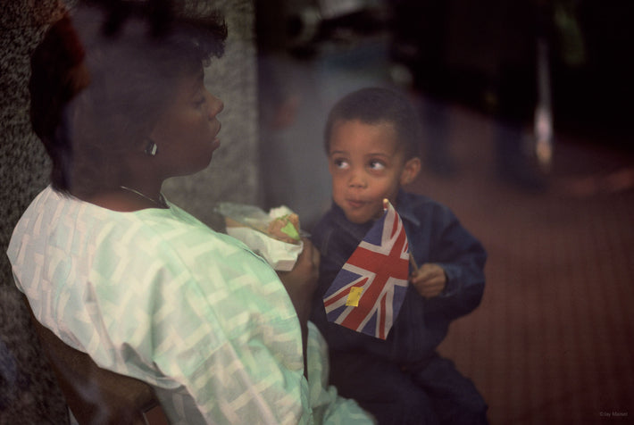 Mother, Child with Flag, London