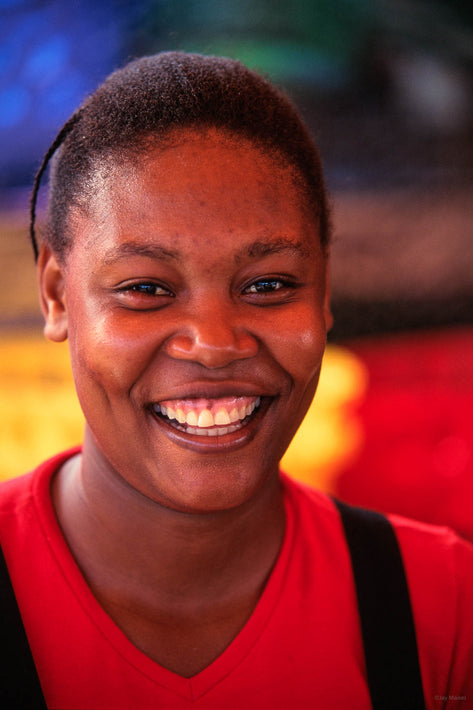 Laughing Woman in Red, Jamaica