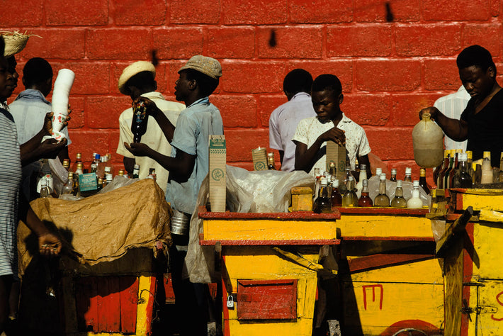 Vendors with Yellow Carts, Haiti