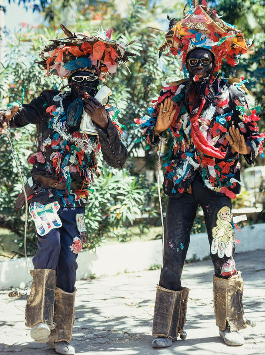 Two Men in Costumes, Haiti