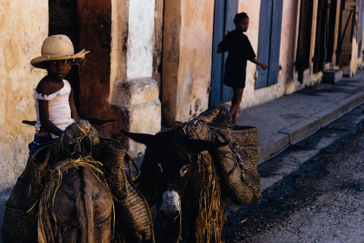 Girl On Mule, Haiti