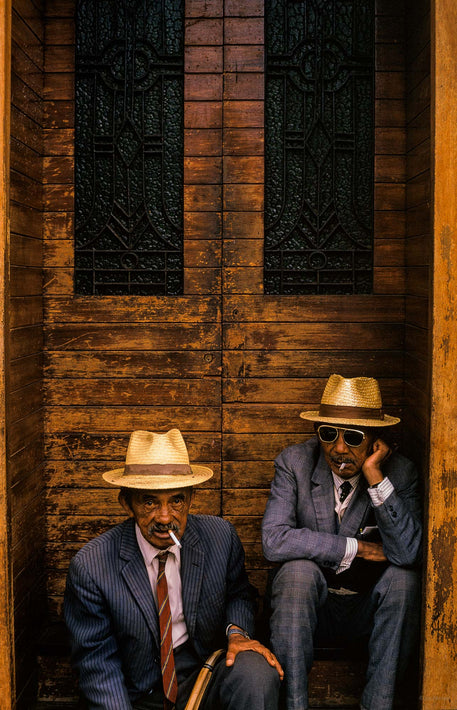 Two Men on Steps, Madagascar